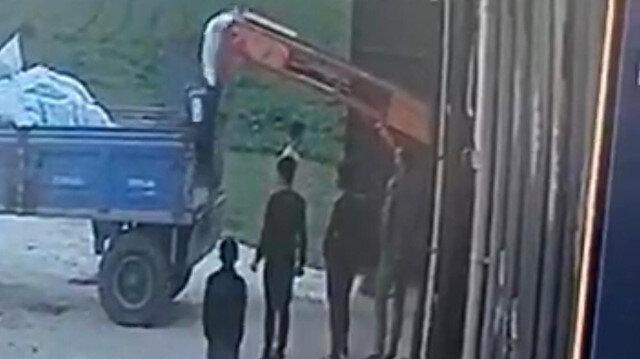 Mardin'de 50 kiloluk gübre torbası çiftçinin üzerine düştü