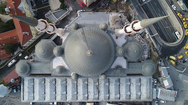 Sona gelindi: Taksim'de yapılan caminin genel inşaatının yüzde 95'i tamamlandı