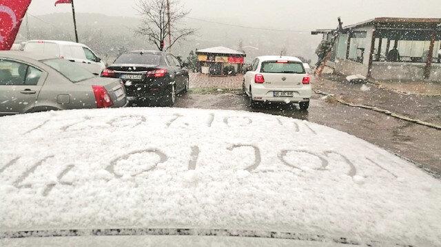 İstanbul'a kar geldi