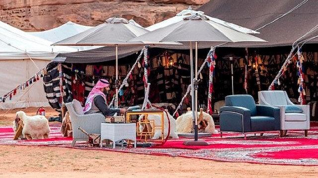 Dünya Ekonomik Forumu'na çölden katıldı: Suudi Arabistan Veliaht Prensi bin Selman'ın koronadan korunma şekli