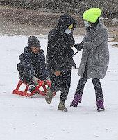 Ankaralı çocukların kar keyfi