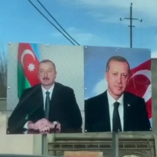 İlham Aliyevin Şuşa gezisinde dikkat çeken Cumhurbaşkanı Erdoğan detayı