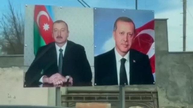 İlham Aliyev'in Şuşa gezisinde dikkat çeken Cumhurbaşkanı Erdoğan detayı