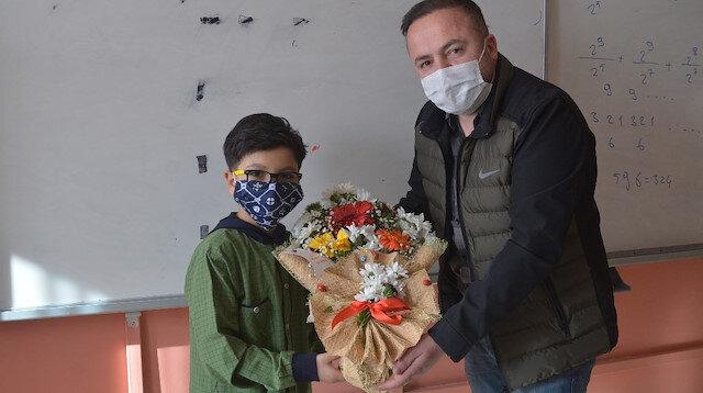 Hakkarili Yusuf Eymen uluslararası matematik yarışmasında birinci oldu