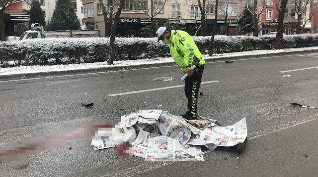 Yürek burkan detay: Kazada can verdi dağıttığı gazetelerle cansız bedeni örtüldü