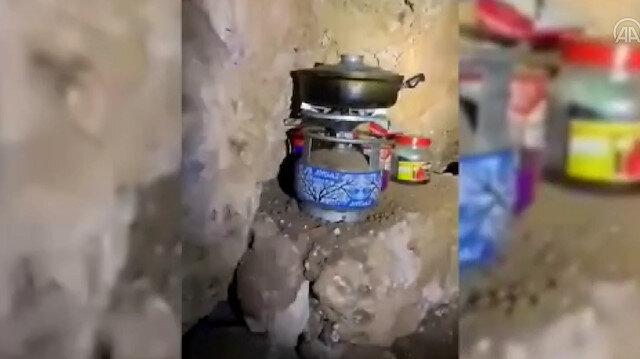 PKK'lı teröristlerce kullanılan 4 sığınak imha edildi
