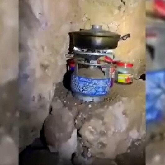 PKKlı teröristlerce kullanılan 4 sığınak imha edildi