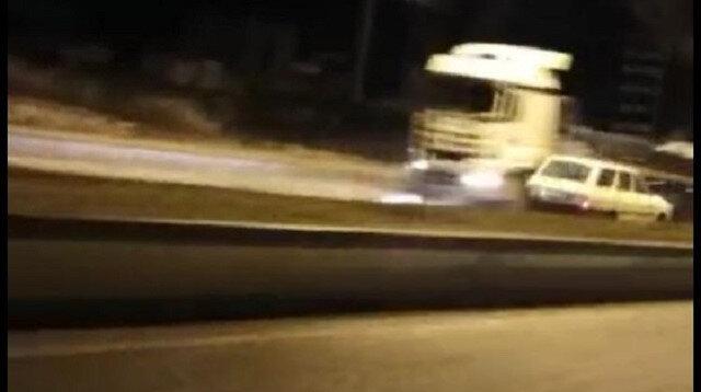 Çankırı'da ters yönde ilerleyen otomobil dehşet saçtı