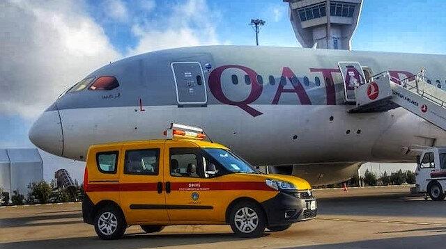 Katar uçağı Şanlıurfa'ya zorunlu iniş yaptı