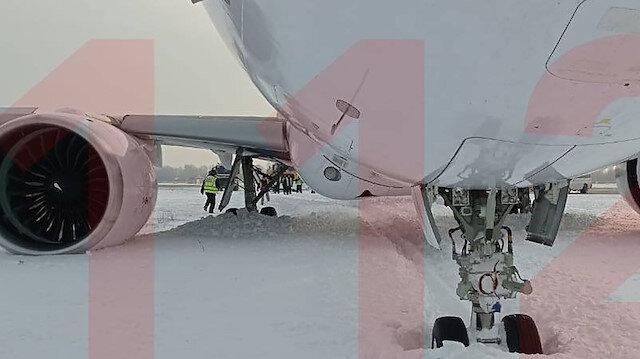 Rusların yeni uçağı pistten çıktı