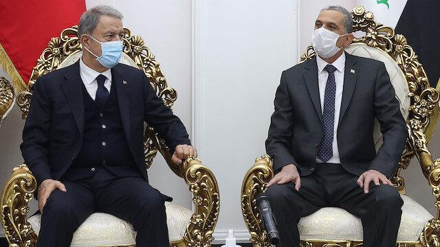 Milli Savunma Bakanı Akar: Irak'ın DEAŞ'tan temizlenmesinde büyük fedakarlık gösterdiniz