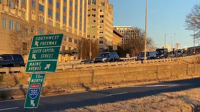 Biden için yüksek güvenlik: 33 araçlık konvoyun geçeceği yollar kapatıldı