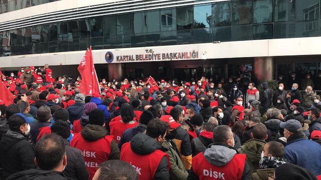 CHP'li Kartal Belediyesi işçilerinden
