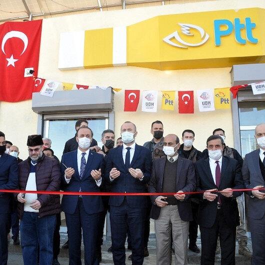 Terörden arındırılan Tel Abyad'da hastane temeli atıldı PTT şubesi açıldı