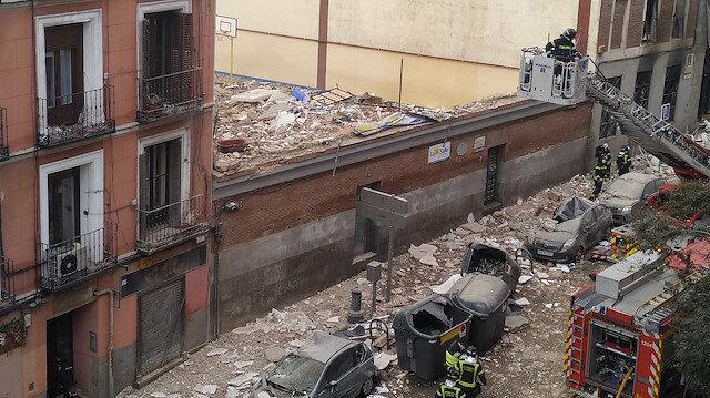 İspanya'nın başkenti Madrid'de şiddetli patlama: Ölüler var!