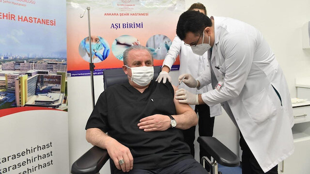 TBMM Başkanı Şentop koronavirüs aşısı oldu