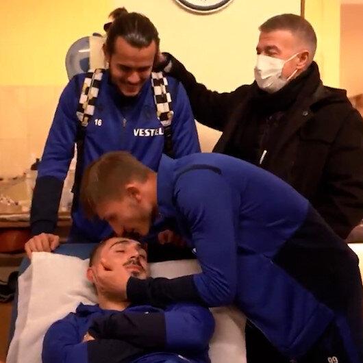 Trabzonspor Kulübünden birlik videosu: Takım arkadaşları Abdulkadiri hastanede ziyaret etti