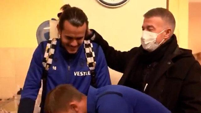 Trabzonspor Kulübü'nden birlik videosu: Takım arkadaşları Abdulkadir'i hastanede ziyaret etti