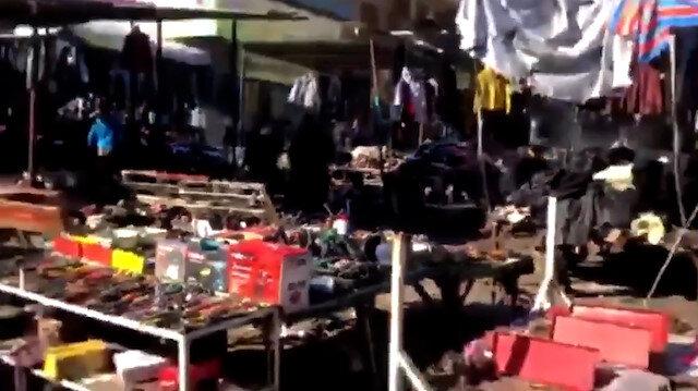 Bağdat'ta intihar saldırısı: Olay yerinden ilk görüntüler