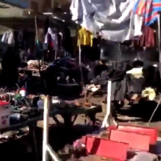 Bağdatta intihar saldırısı: Olay yerinden ilk görüntüler