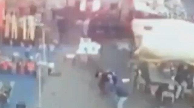 Irak'ta meydana gelen saldırıda patlama anı kamerada
