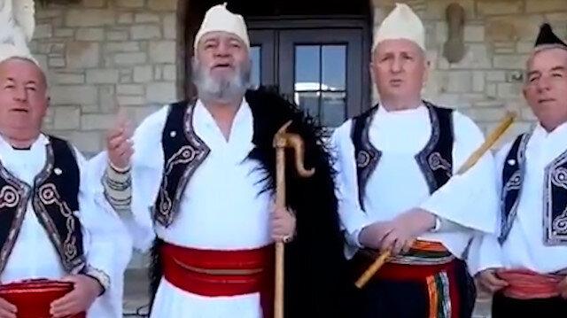 Arnavut müzik grubundan Cumhurbaşkanı Erdoğan'a özel şarkı