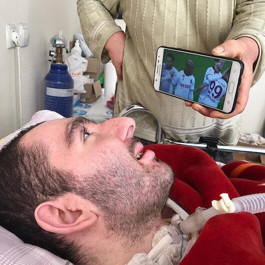 Trabzonda yatağa mahkum Yusuf sadece Nwakaemeye tepki veriyor
