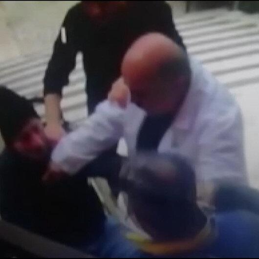 Sağlık personeline yapılan saldırıyı kameralar saniye saniye kaydetti