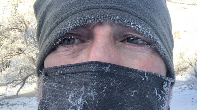 Sibirya soğukları vurdu: Vatandaşların kirpikleri dondu