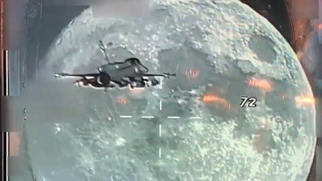 F-16'daki Sniper Pod'a  yansıyan muhteşem görüntüler