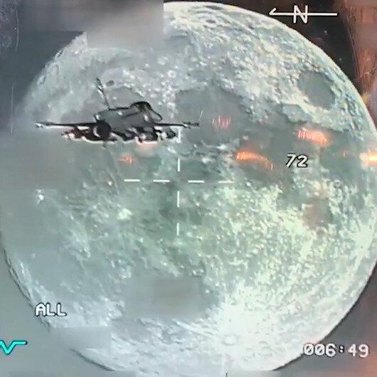 F-16daki Sniper Poda  yansıyan muhteşem görüntüler