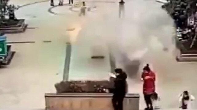 Çin'de kanalizasyona fişek atan çocuk ortalığı savaş alanaına çevirdi