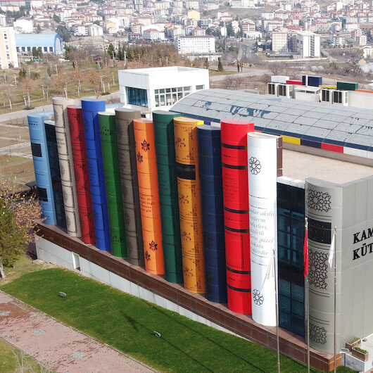 Uniquely designed Turkish library serves users