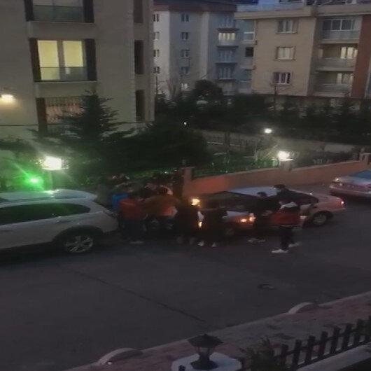 Bağcılarda bir grup genç yasağı umursamadan sokakta doğum günü partisi yaptı