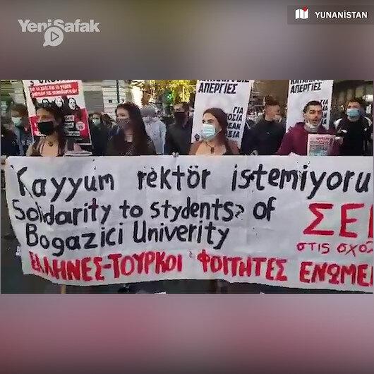 Yunanistanda Boğaziçi olaylarına destek eylemi