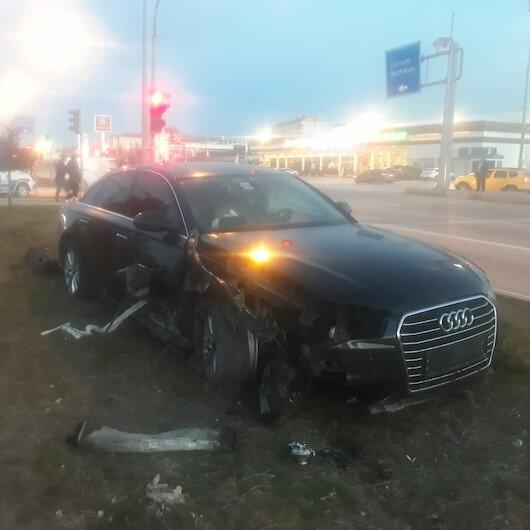 AK Parti Ordu Milletvekili Yediyıldız, Çorum'da geçirdiği trafik kazasında hafif yaralandı
