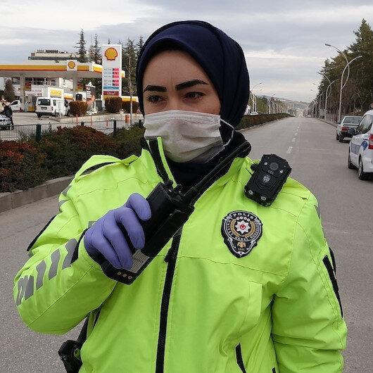 Çorum'un ilk ve tek kadın trafik polisi görev başında