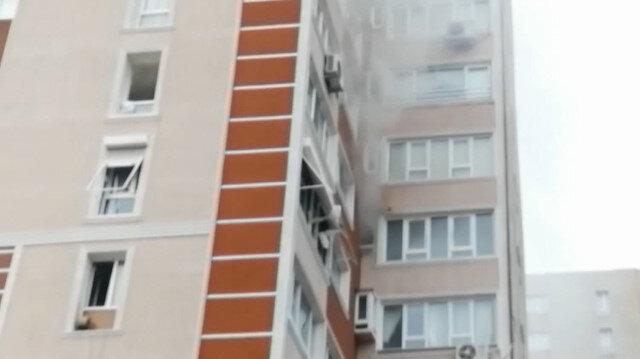 Bahçelievler'de 14 katlı binanın 6'ncı katında patlama