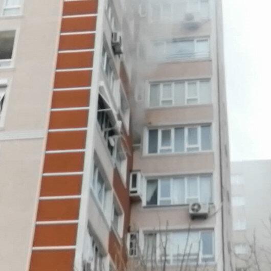 Bahçelievlerde 14 katlı binanın 6ncı katında patlama