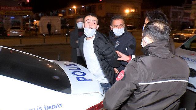 Ümraniye'de kısıtlamada kontrol noktasından kaçan şahıstan polislere: Sizin yanınıza bırakmayacağım sizi mahkemeye vereceğim
