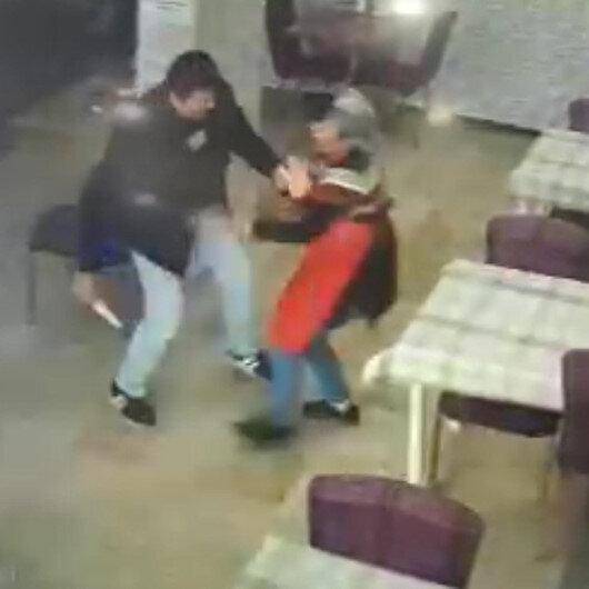 Tekirdağda indirim yapmayan kadın dönercinin bıçaklandığı an kamerada