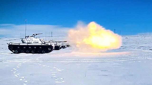 Kış-2021 Tatbikatı'nda hedefler tam isabetle vuruldu