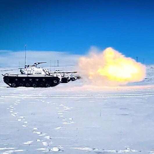 Kış-2021 Tatbikatında hedefler tam isabetle vuruldu