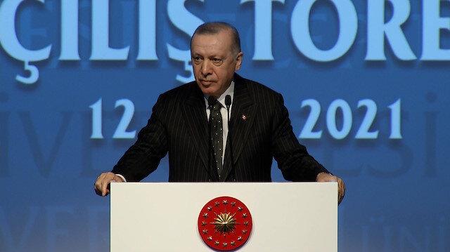 Cumhurbaşkanı Erdoğan: 40 bin tablet dağıtmakla övünüyorlar, Şahinbey Belediyesinin dağıttığı 50 bin tableti görmüyorlar