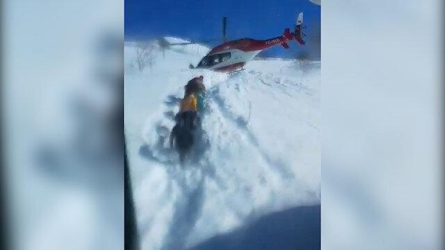 Van Gevaş'ta ambulans helikopter pilotu,