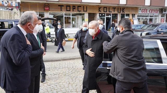 Cumhurbaşkanı Erdoğan memleketi Rize'de