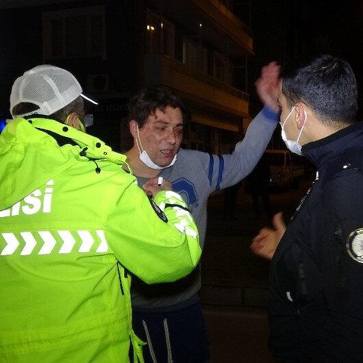 Bursada kısıtlamayı delen alkollü sürücü polisin üzerine yürüdü