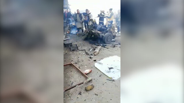 Çobanbey'de PKK/YPG'den hain saldırı: Bomba yüklü araçla yapılan terör saldırısında 1 kişi öldü, 4 kişi yaralandı