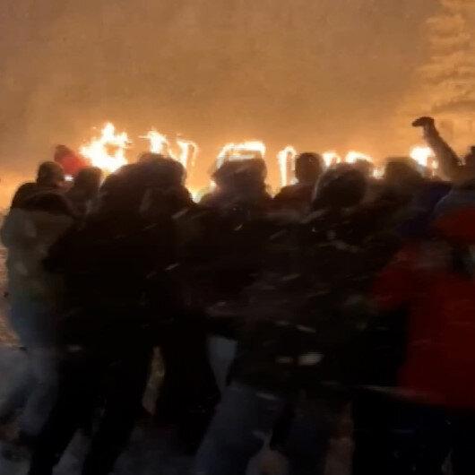Boğaziçi Üniversitesi öğrencilerinden Uludağda tepki çeken eğlence