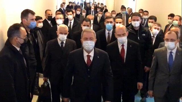 Hulusi Akar ve Süleyman Soylu'dan CHP'ye ziyaret